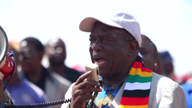 zimbabwean president emmerson mnangagwa visits victims of tropical cyclone idai five days after it hit the country killing more than 300 in southern... - southern africa stock videos & royalty-free footage
