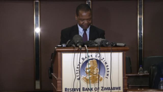 Zimbabwe's central bank releases its first monetary policy statement since veteran leader Robert Mugabe was ousted from power