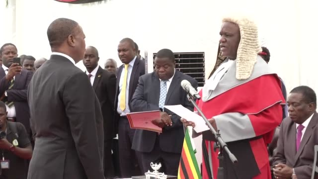 zimbabwe's former army commander who led a military takeover that helped end robert mugabe's 37 year rule was thursday sworn in as one of the... - zimbabwe stock videos & royalty-free footage