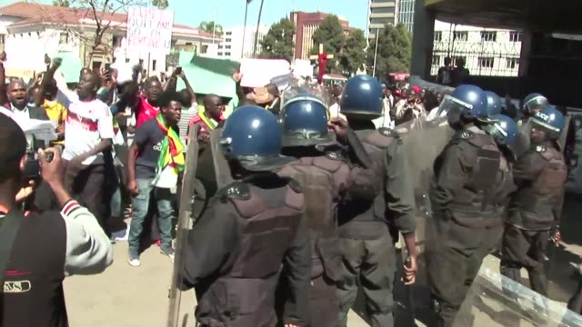 zimbabwe's high court overturns a police ban on protests in the capital harare after a legal challenge from activists involved in a recent surge of... - harare stock videos and b-roll footage
