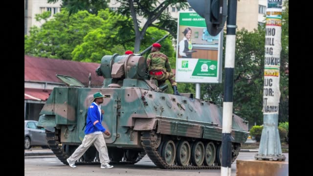 zimbabwe's military is in control of the country as president robert mugabe said he was under house arrest although generals deny staging a coup - zimbabwe stock videos & royalty-free footage