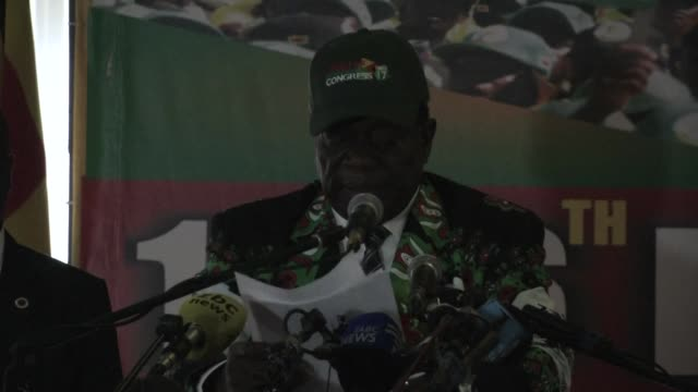 zimbabwe's new president emmerson mnangagwa promises elections in zimbabwe in 2018 will be credible free and fair and peaceful - zimbabwe stock videos & royalty-free footage