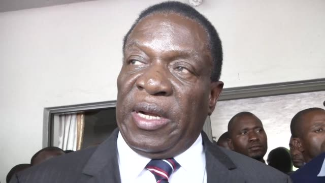 zimbabwe's president emmerson mnangagwa visits the family home of morgan tsvangirai to pay his respects to the former prime minister and opposition... - minister president stock videos and b-roll footage
