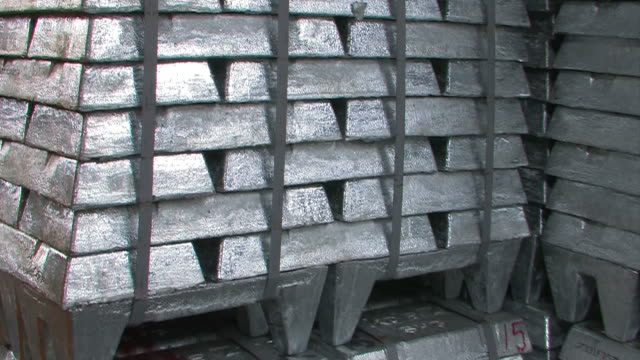 zinc bars - metal ore stock videos & royalty-free footage