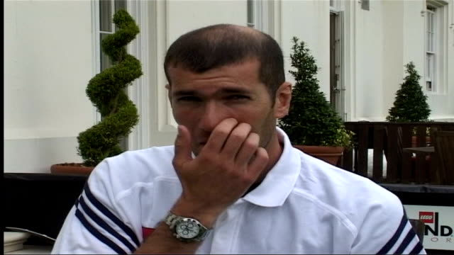 Zinedine Zidane visits Legoland ITN Windsor EXT Zinedine Zidane part of interview in French SOT I am very happy to be here / Play with the kids as I...