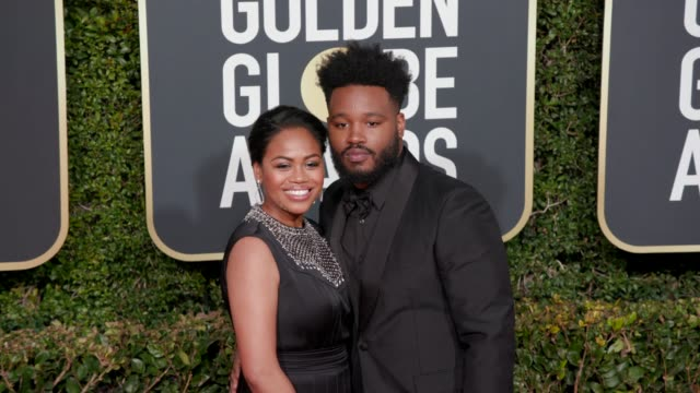 zinzi evans and ryan coogler at 76th annual golden globe awards arrivals in los angeles ca 1/6/19 4k footage - ryan coogler stock videos and b-roll footage