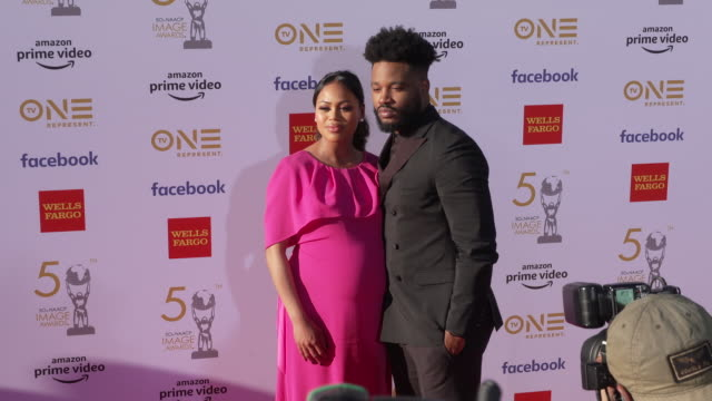 zinzi evans and ryan coogler at the 50th naacp image awards at dolby theatre on march 30 2019 in hollywood california - ryan coogler stock videos and b-roll footage
