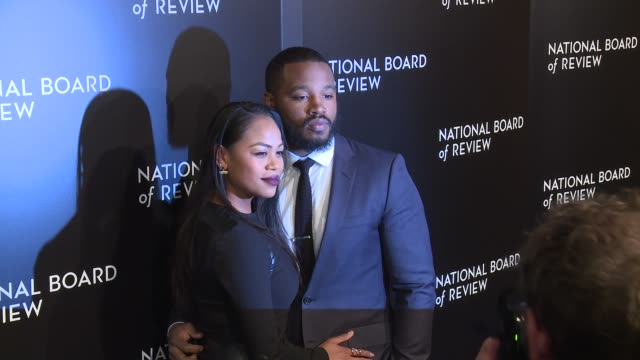 zinzi evans and ryan coogler at the national board of review gala honoring the 2015 award winners at cipriani 42nd street on january 05 2016 in new... - ryan coogler stock videos and b-roll footage