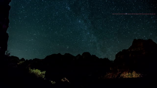 zion national park stars - zion national park stock videos & royalty-free footage
