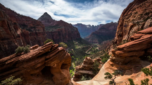 zion national park time lapse - 4k nature/wildlife/weather - zion national park stock videos & royalty-free footage