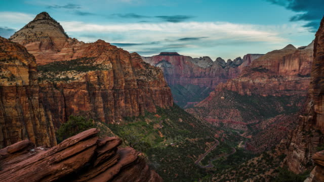 time lapse: zion national park utah usa - 4k nature/wildlife/weather - zion national park stock videos & royalty-free footage