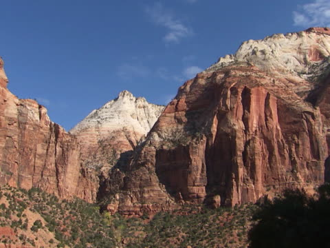 zion: rugged sandstone mountains - sandstone stock videos & royalty-free footage