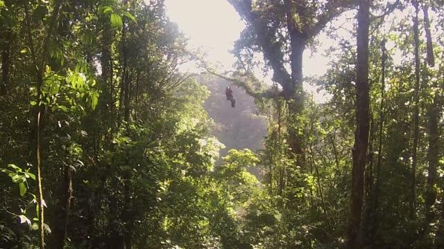 Zip line in Costa Rica
