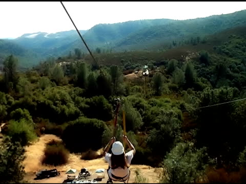 zip line ride - pulley stock videos & royalty-free footage