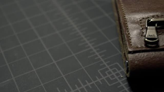 zipper wallet - wallet stock videos & royalty-free footage