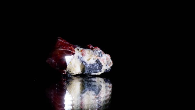 zircon crystal rotating on black - mineral stock videos & royalty-free footage
