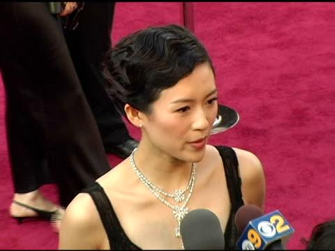 vídeos y material grabado en eventos de stock de ziyi zhang at the 2005 annual academy awards arrivals at the kodak theatre in hollywood, california on february 28, 2005. - 77ª ceremonia de entrega de los óscar