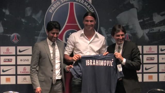 Zlatan Ibrahimovic Arrives at PSG Press Conference Zlatan Ibrahimovic Arrives at PSG Press Conference on July 18 2012 in Paris France