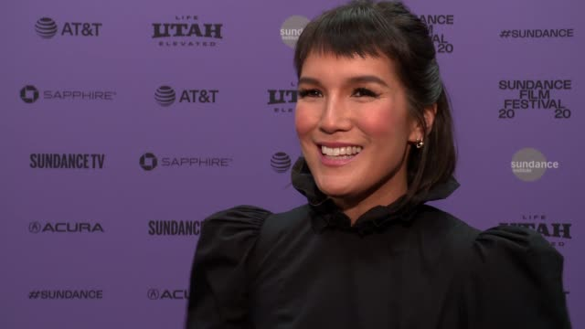 "interview zoë chao on the plot her character the cast and stories from set audience takeaways at the ""downhill"" sundance premiere presented by... - sundance film festival stock videos & royalty-free footage"