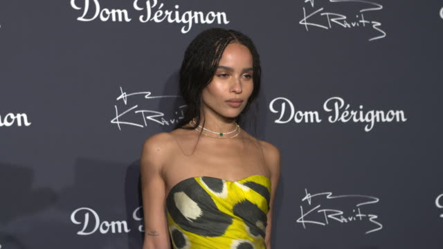 zoë kravitz at assemblage a lenny kravitz exhibition inspired by dom pérignon at skylight modern on september 28 2018 in new york city - art and craft stock videos & royalty-free footage