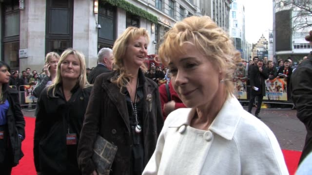zoë wanamaker at the it's a wonderful afterlife uk premiere at london england - afterlife stock videos and b-roll footage