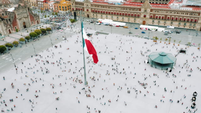 zocalo square in mexico city - mexico stock videos & royalty-free footage