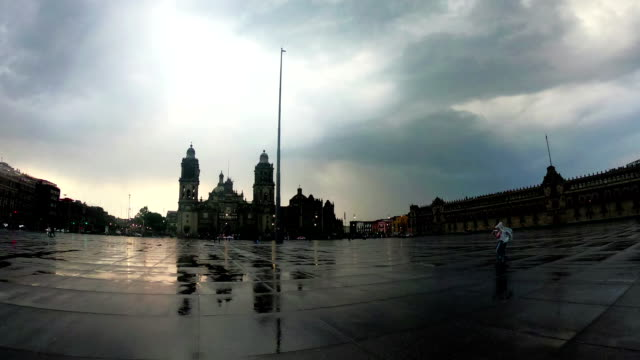 zocalo square in mexico city. - zocalo mexico city stock videos & royalty-free footage