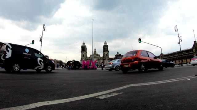 zocalo square, mexico city - zocalo mexico city stock videos & royalty-free footage