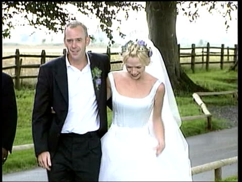 zoe ball and husband to split lib tv presenter zoe ball and dj norman cook along at their wedding - zoe ball stock videos and b-roll footage