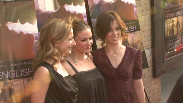 Zoe Cassavetes Drea de Matteo and Parker Posey at the 'Broken English' New York Premiere at Landmark Sunshine Cinema in New York New York on June 18...