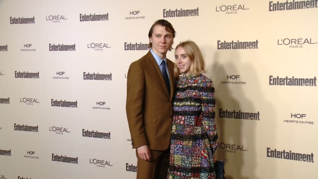 zoe kazan and paul dano at entertainment weekly's preemmy celebration at fig olive melrose place on september 18 2015 in west hollywood california - entertainment weekly stock videos and b-roll footage