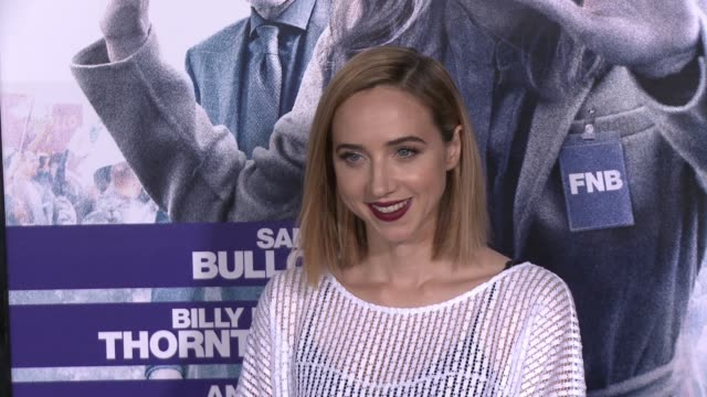 """zoe kazan at the """"our brand is crisis"""" los angeles premiere at tcl chinese theatre on october 26, 2015 in hollywood, california. - tcl chinese theatre video stock e b–roll"""