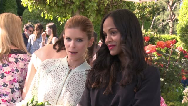 Zoe Saldana and Kate Mara at the Victoria Beckham For Target Launch Event on April 1 2017 in Los Angeles California