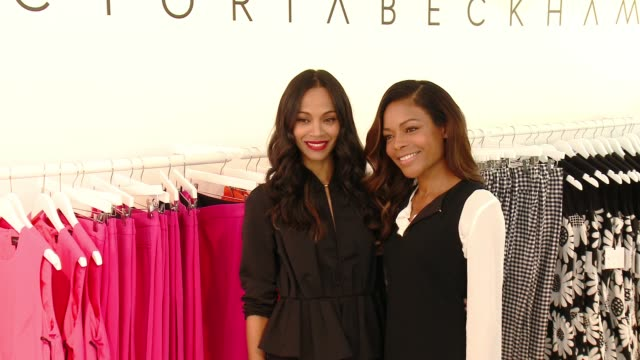 Zoe Saldana and Naomie Harris at the Victoria Beckham For Target Launch Event on April 1 2017 in Los Angeles California