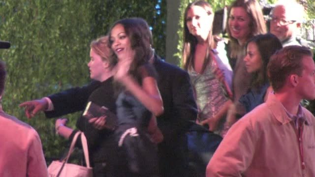 zoe saldana arrives at the 2012 vanity fair oscar party in west hollywood ca 02/26/12 - oscar party stock-videos und b-roll-filmmaterial