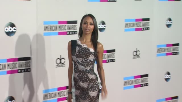 zoe saldana at 2013 american music awards arrivals in los angeles ca - american music awards stock videos and b-roll footage