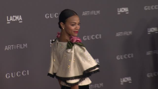 Zoe Saldana at 2017 LACMA Art Film Gala Honoring Mark Bradford and George Lucas Presented by Gucci in Los Angeles CA