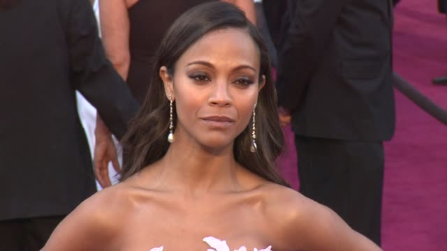 Zoe Saldana at 85th Annual Academy Awards Arrivals 2/24/2013 in Hollywood CA