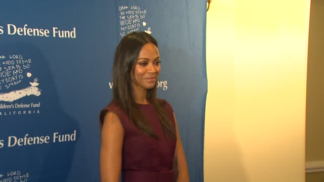 Zoe Saldana at Children's Defense FundCalifornia Hosts 22nd Annual Beat The Odds Awards Beverly Hills CA United States 12/6/12