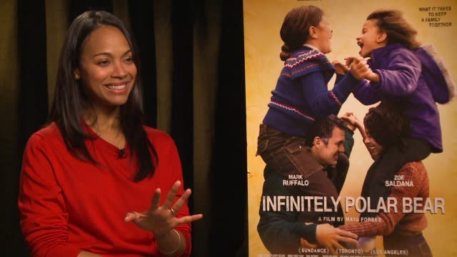 INTERVIEW Zoe Saldana at Four Seasons Hotel Los Angeles at Beverly Hills on June 15 2015 in Los Angeles California