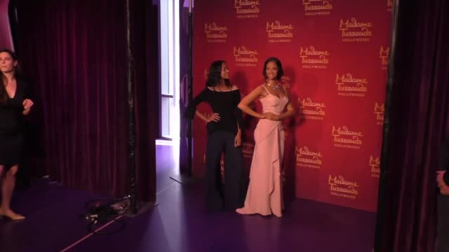 zoe saldana at madame tussauds in hollywood at celebrity sightings in los angeles on april 07 2017 in los angeles california - madame tussauds stock videos & royalty-free footage