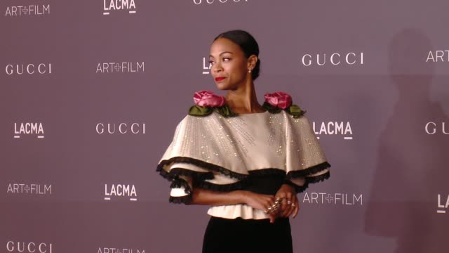 Zoe Saldana at the 2017 LACMA Art Film Gala Honoring Mark Bradford And George Lucas And Presented By Gucci at LACMA on November 4 2017 in Los Angeles...