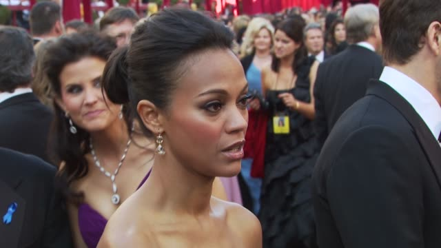 Zoe Saldana at the 82nd Annual Academy Awards Arrivals at Hollywood CA