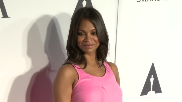 Zoe Saldana at The Academy Celebrates The Opening Of Hollywood Costume at Wilshire May Company Building on October 01 2014 in Los Angeles California