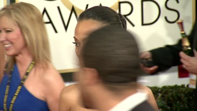 Zoe Saldana at The Beverly Hilton Hotel on in Beverly Hills California