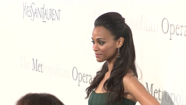 Zoe Saldana at the The Metropolitan Opera's 125th Anniversary Gala at New York NY