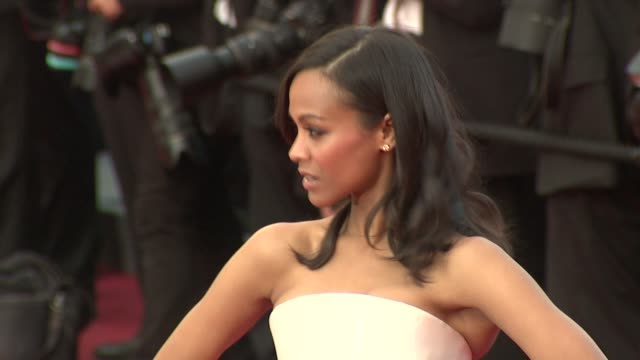 Zoe Saldana at the The Tree of Life Premiere 64th Cannes Film Festival at Cannes