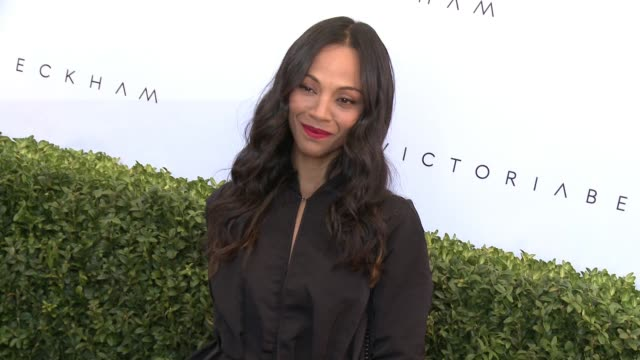 Zoe Saldana at the Victoria Beckham For Target Launch Event on April 1 2017 in Los Angeles California