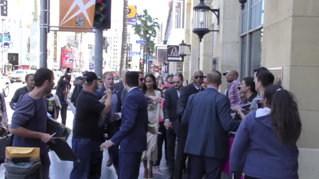 Zoe Saldana heads to the Roosevelt Hotel after her Star Ceremony on the Hollywood Walk of Fame in Hollywood in Celebrity Sightings in Los Angeles