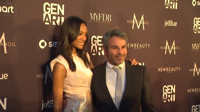 Zoe Saldana Jeffrey Abramson at the Gen Art Fresh Faces In Fashion Presented By Moroccanoil at Los Angeles CA